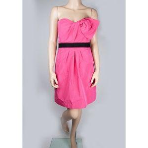 Dress Gown Empire Waist Pink Black